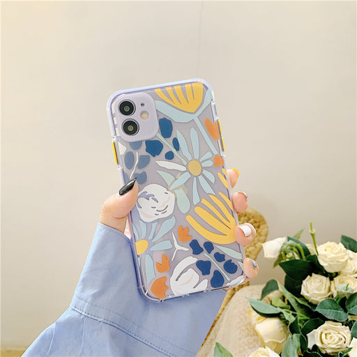 Thickened cartoon embossed phone case