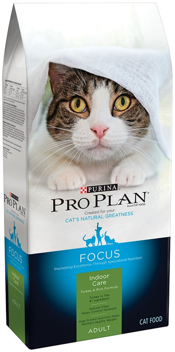 Purina Pro Plan Focus Indoor Care Turkey & Rice Formula Dry Cat Food