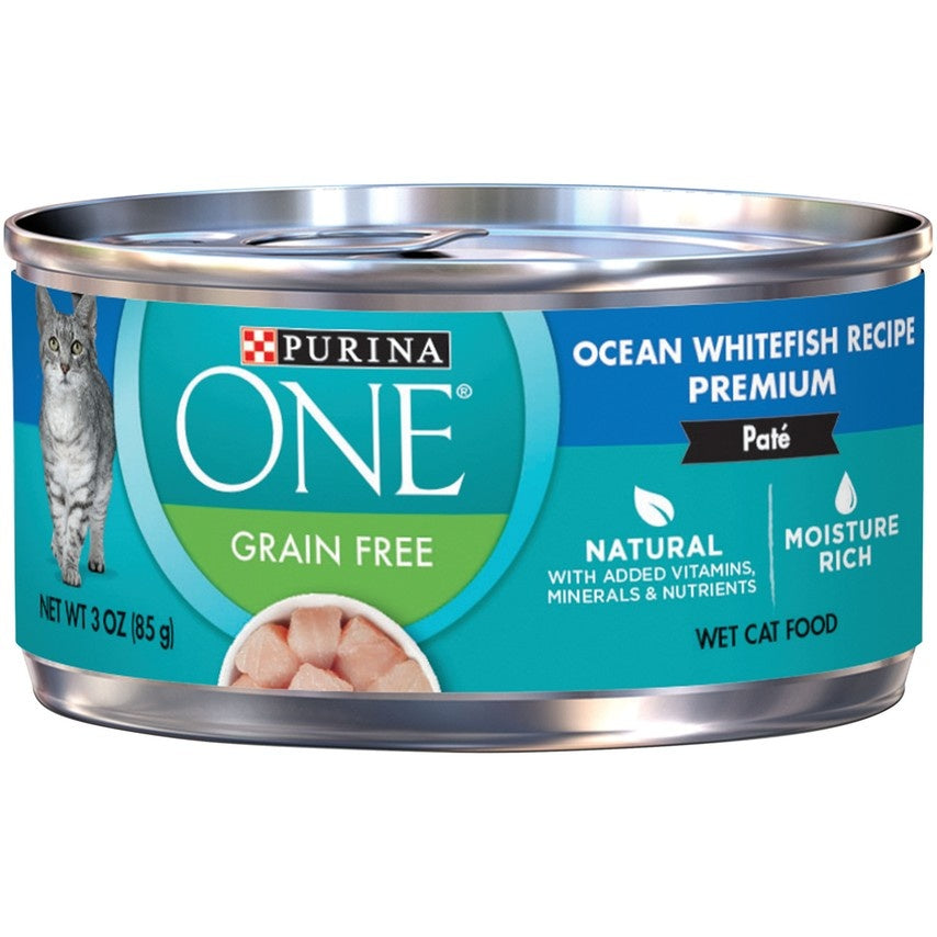 Purina ONE Grain Free Premium Pate Whitefish Canned Cat Food