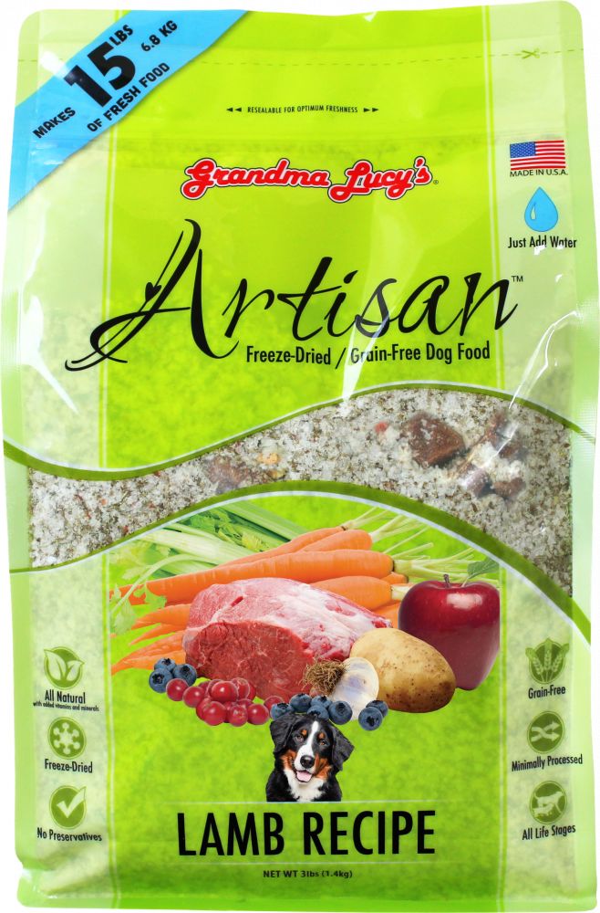 Grandma Lucy's Artisan Grain Free Lamb Freeze Dried Dog Food