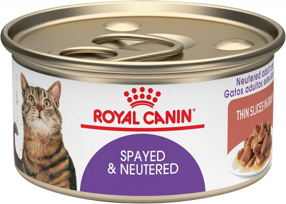 Royal Canin Feline Health Nutrition Spayed or Neutered Thin Slices in Gravy Canned Cat Food