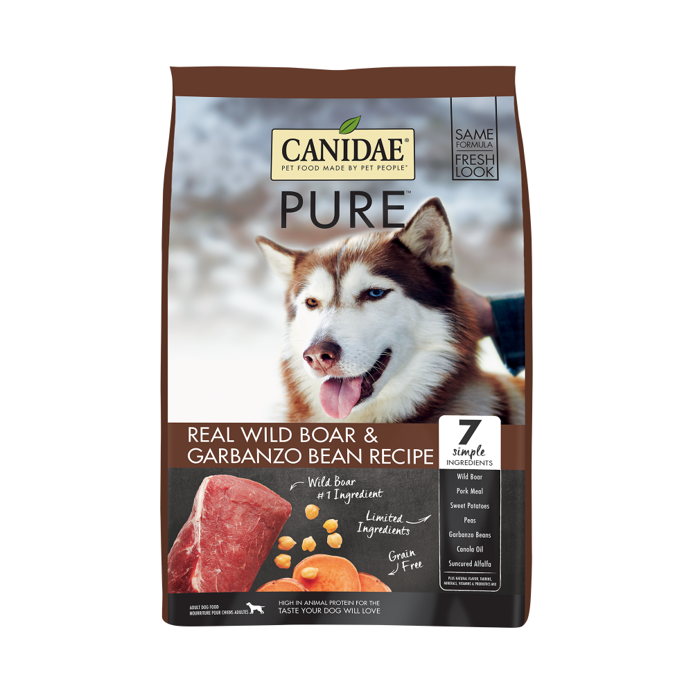Canidae Grain Free PURE Wild Boar & Garbanzo Bean Recipe Dry Dog Food