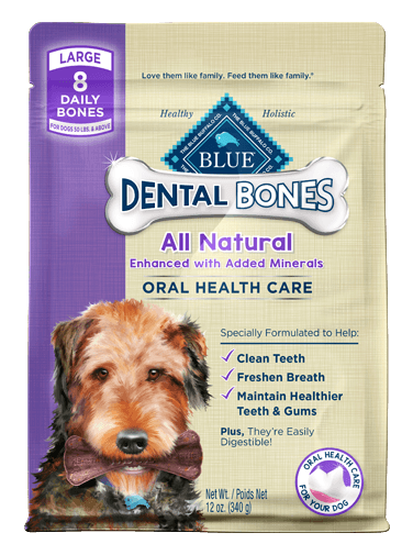 Blue Buffalo Dental Bones Large Adult Dental Chew Dog Treat