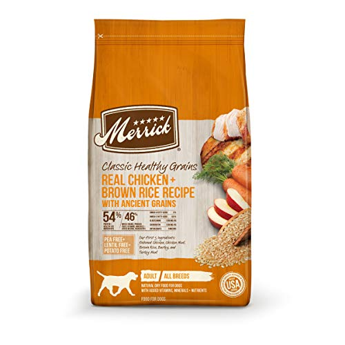 Merrick Dry Dog Food with added Vitamins & Minerals for All Breeds, 4-Pound, Chicken