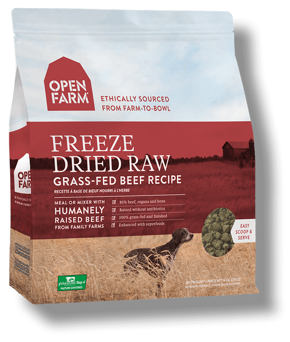 Open Farm Grain Free Grass Fed Beef Recipe Freeze Dried Raw Dog Food