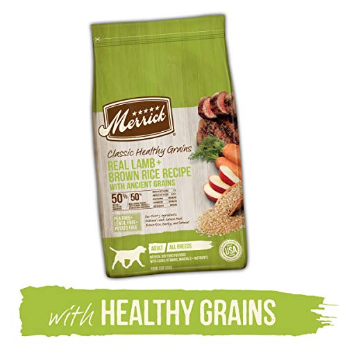 Merrick Classic Healthy Grains Lamb+ Brown Rice Recipe with Ancient Grains Dry Dog Food, 25 lbs.