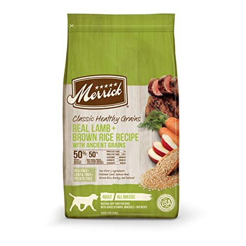 Merrick Dry Dog Food with added Vitamins & Minerals for All Breeds, 4-Pound,