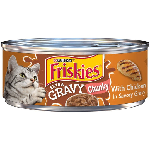 Friskies Extra Gravy Chunky with Chicken in Savory Gravy Canned Cat Food