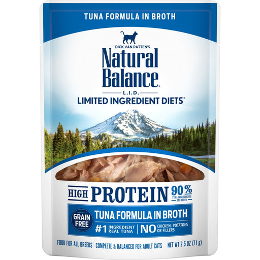 Natural Balance L.I.D. Limited Ingredient Diets High Protein Tuna in Broth Pouch Wet Cat Food