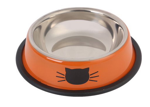 Color stainless steel pet cat bowl