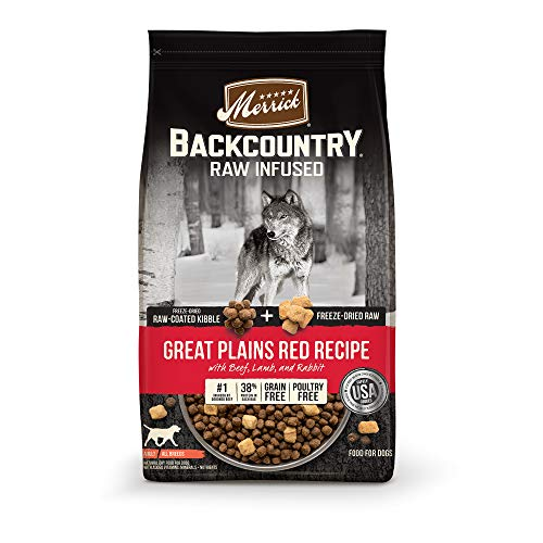 Merrick Backcountry Raw Infused Grain Free Dry Dog Food Great Plains Red Recipe - 4 lb. Bag