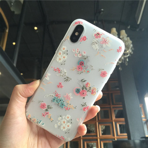 Luxury flowers fashion small broken flower mobile phone case