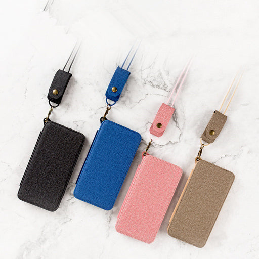 Mobile phone case mirror leather case with hanging lanyard silicone mirror 8 protective cover