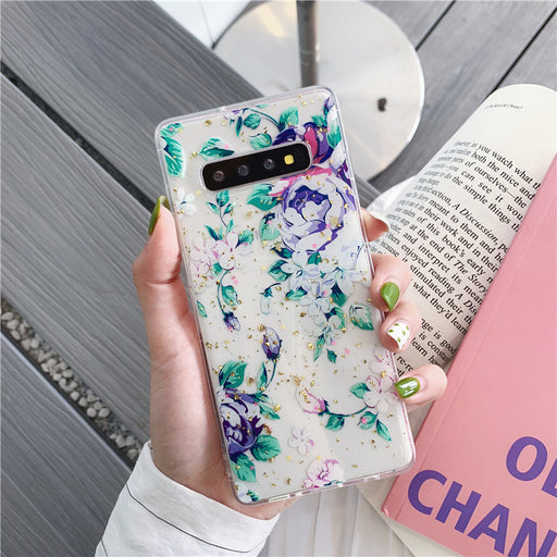 Gold foil flower mobile phone case