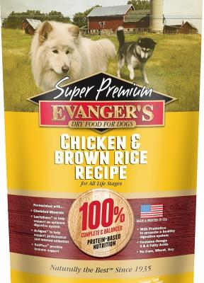 Evanger's Super Premium Chicken with Brown Rice Recipe Dry Dog Food