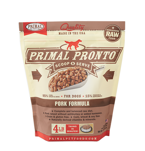 PRIMAL DOG PRONTO RAW FROZEN PORK