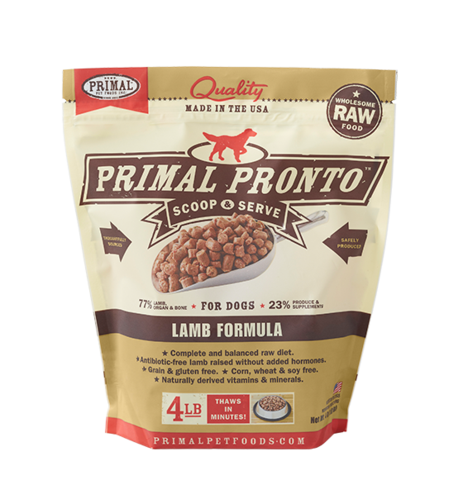 PRIMAL PRONTO DOG RAW FROZEN LAMB