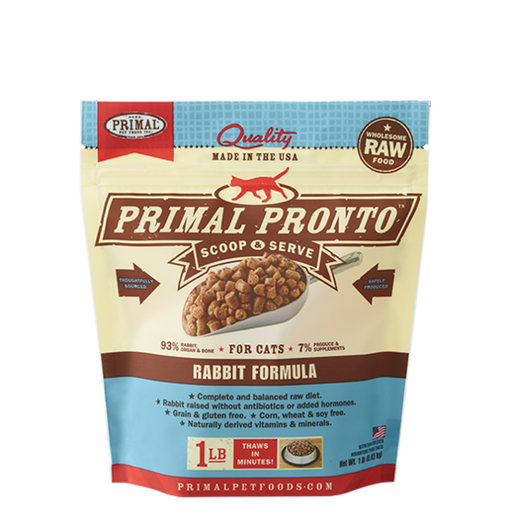 PRIMAL PRONTO CAT RAW FROZEN RABBIT