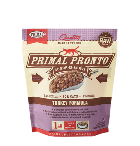 PRIMAL PRONTO CAT RAW FROZEN TURKEY