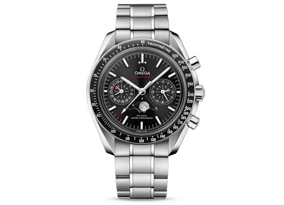 Omega Speedmaster Moonwatch Co-Axial Master Chronometer Moonphase Chronograph - Crystal group