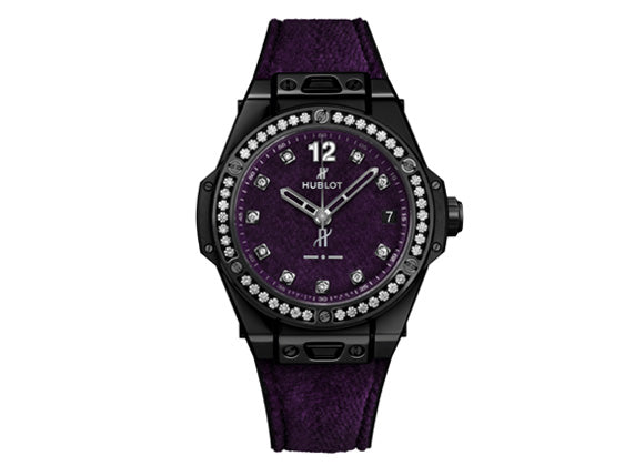 Hublot Big Bang One Click Italia Independent Purple Velvet - Crystal group