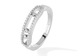 Messika Baby Move pave ring - Crystal group