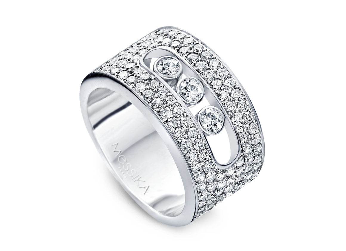 Messika Move pavé medium ring - Crystal group