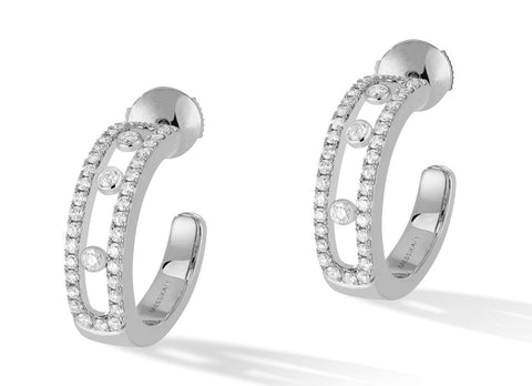 Messika Move Classique earrings - Crystal group