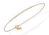 Messika Gatsby bar bracelet - Crystal group
