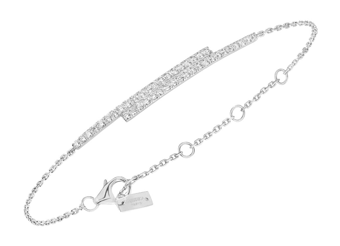 Messika Gatsby double bar bracelet - Crystal group