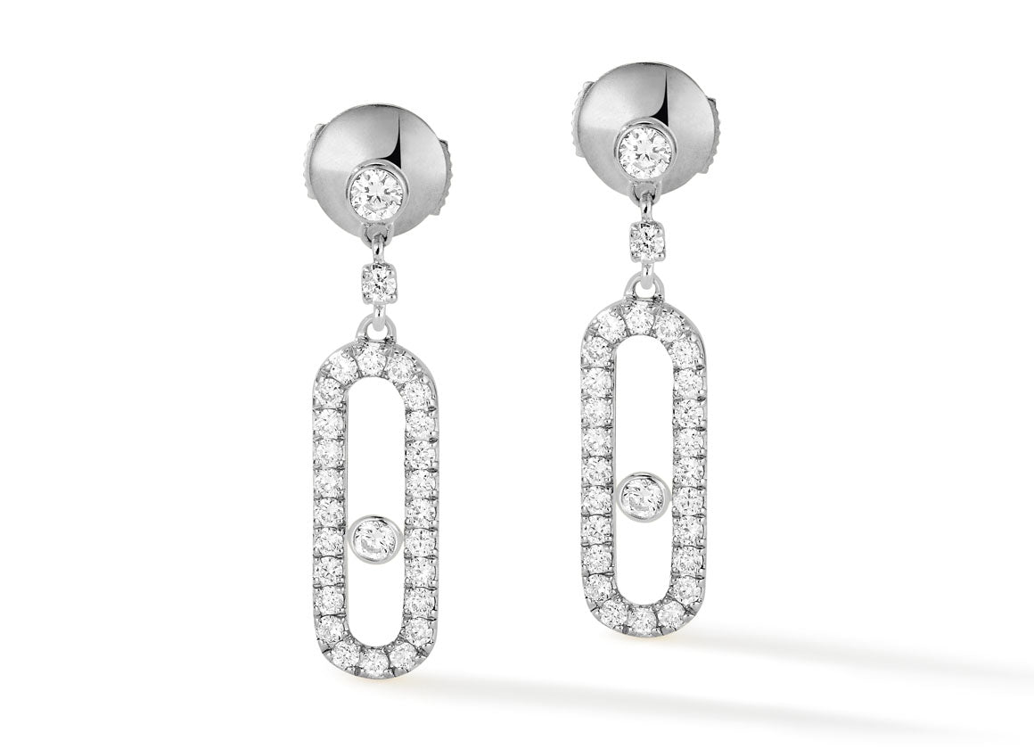 Messika Move Uno earrings - Crystal group