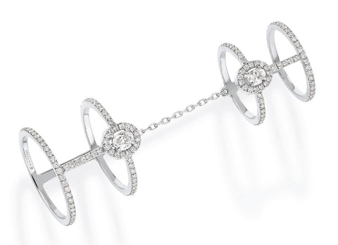 Messika Glam'Azone double pave ring - Crystal group