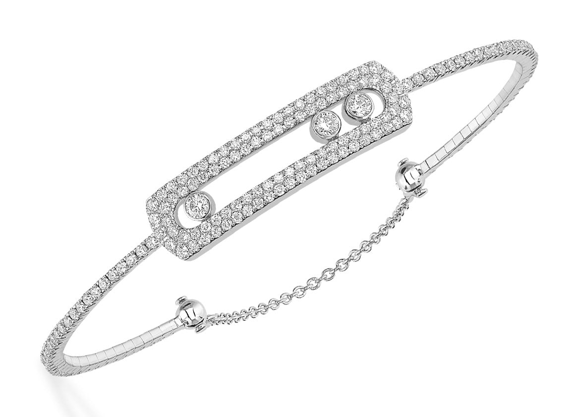 Messika Move Skinny pavé bracelet - Crystal group