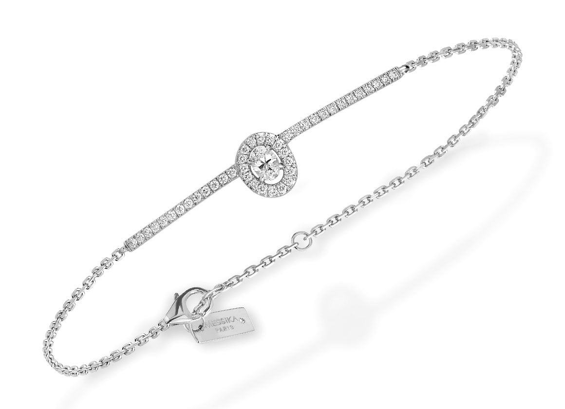 Messika Glam'Azone pavé diamonds bracelet - Crystal group