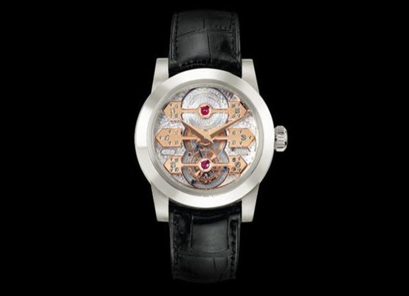 Girard-Perregaux Tourbillon with three gold bridges - Crystal group