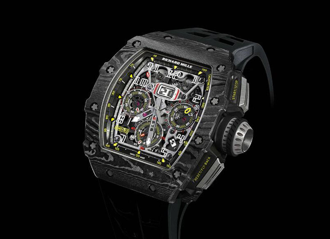 Richard Mille RM 11-03 Automatic Flyback Chronograph TPT Carbon - Crystal group
