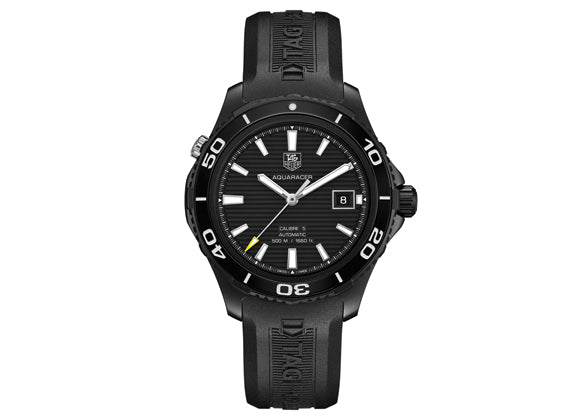 Украденные часы Watch Aquaracer 500 m Calibre 5 Automatic Watch 41 mm Black - Crystal group
