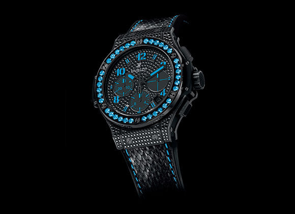 Hublot Big Bang 41 mm Black Fluo Blue - Crystal group