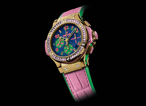 Hublot Big Bang 41 mm Pop Art Yellow Gold Rose - Crystal group