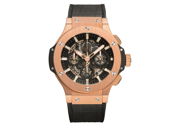 Hublot Big Bang 44 mm Aero Bang Gold - Crystal group