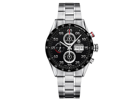 Watch Calibre 16 Day Date Automatic Chronograph 43 mm Black Bracelet