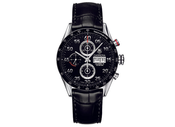 Watch Calibre 16 Day Date Automatic Chronograph 43 mm Black Strap