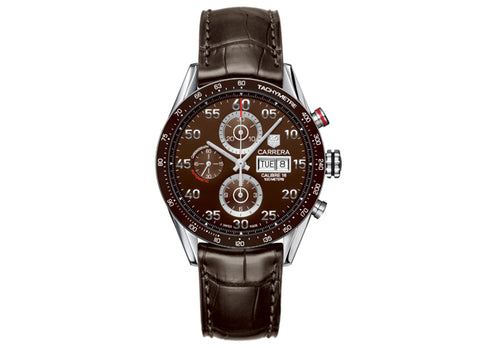Украденные часы Watch Calibre 16 Day Date Automatic Chronograph 43 mm Brown Strap