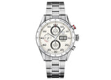 Украденные часы Watch Calibre 16 Day Date Automatic Chronograph 43 mm White Strap - Crystal group