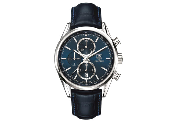 Украденные часы Watch Сarrera Сalibre 1887 Atomatic Chronograph 41 mm Blue - Crystal group