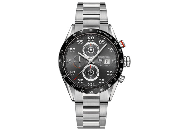 Украденные часы Watch Carrera Calibre 1887 Automatic Chronograph 43 mm Anthracite Steel Bracelet
