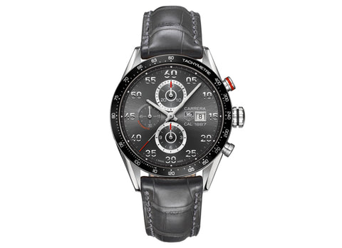 Украденные часы Watch Carrera Calibre 1887 Automatic Chronograph 43 mm Anthracite Steel Strap