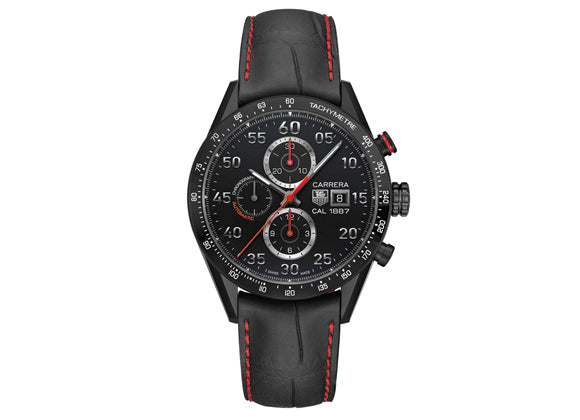 Украденные часы Watch Carrera Calibre 1887 Automatic Chronograph 43 mm Black