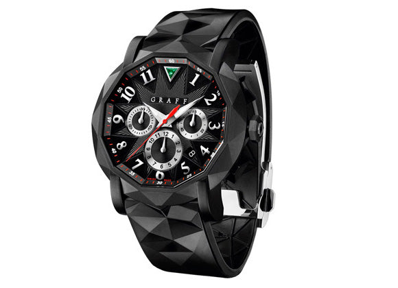 Graff watches ChronoGraff in black DLC 45 mm - Crystal group
