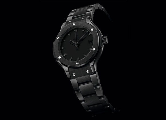 Hublot Classic Fusion 33 mm All Black Bracelet - Crystal group